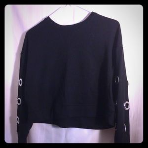 Black Cropped Sweatshirt